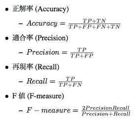 accuracy to f-measure